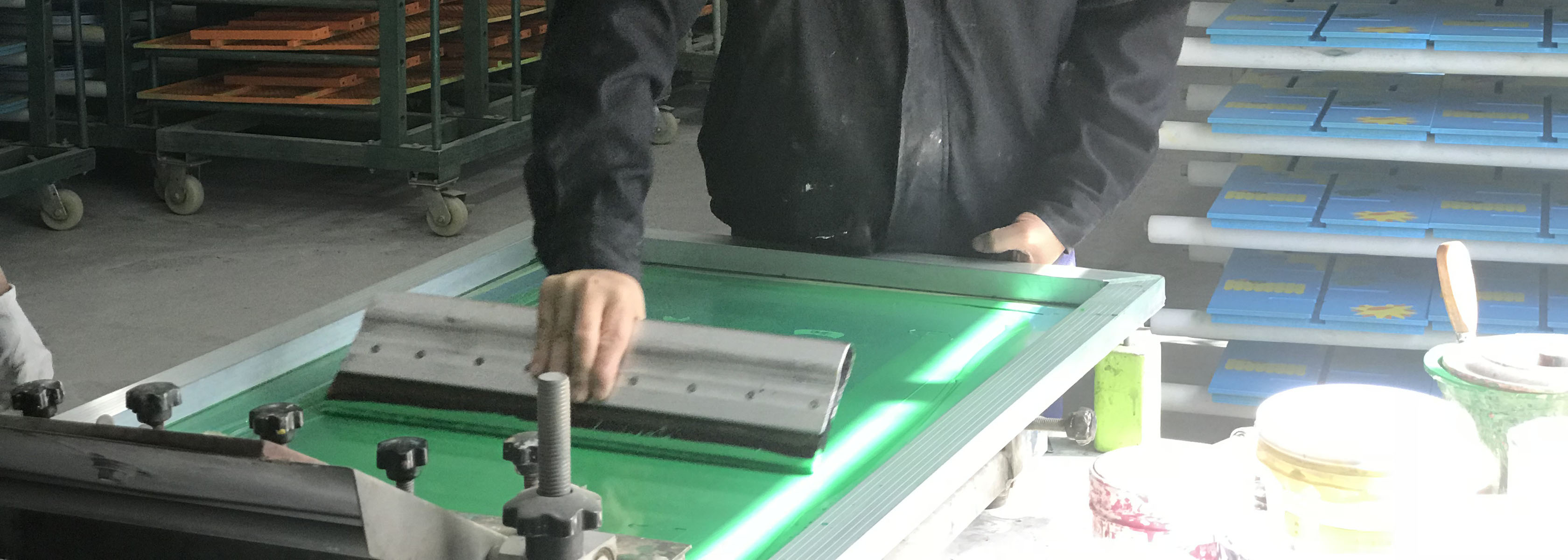 this image shows screen printing