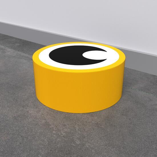 Op deze afbeelding staat een softplay Eye aye yellow