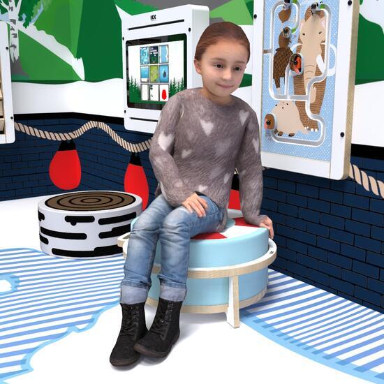 Op deze afbeelding ziet u kindermeubel softplaykruk wit