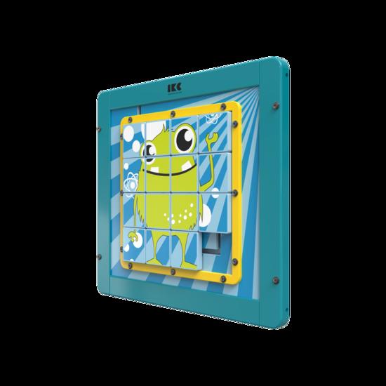 Houten schuifpuzzel    IKC Wandspellen en muurspellen voor kinderen