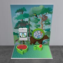 Op deze afbeelding staat een speelhoek Classic S 2 m²