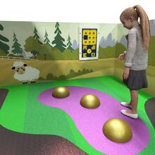 this image shows a concept of the play floor, EPDM Glitter