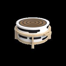 Houten krukje voor kinderen speciaal ontworpen voor de softplay zitkussens   IKC Kindermeubels