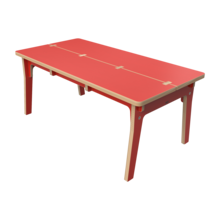 Houten tafel voor kinderen rood | IKC Kindermeubels